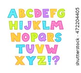 cute bright childish alphabet... | Shutterstock .eps vector #472204405