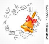 freehand school illustration.... | Shutterstock .eps vector #472208941