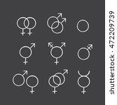 sketch set of a gender symbols.... | Shutterstock . vector #472209739