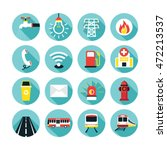 public utility icons flat set ... | Shutterstock .eps vector #472213537