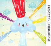 rainbow explosion  children's...   Shutterstock .eps vector #472214065