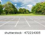 empty parking lot against green ... | Shutterstock . vector #472214305