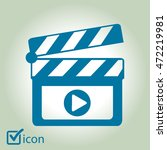 film maker clapper board  icon. ...