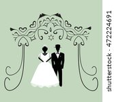 vintage graphic chuppah.... | Shutterstock .eps vector #472224691