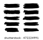 set of brush strokes | Shutterstock .eps vector #472224991