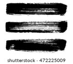 set of brush strokes | Shutterstock .eps vector #472225009