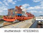 Cargo Ship In The Miraflores...