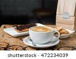 cappuccino flatwhite coffee... | Shutterstock . vector #472234039
