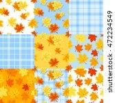 Vector Set Of Nine Autumn...