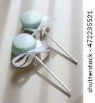 Blue Baby Rattle French Macaro...