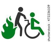 fire patient evacuation icon.... | Shutterstock .eps vector #472236109