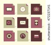 vector flat icons set   gadgets ...