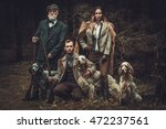 group of multi age hunters with ... | Shutterstock . vector #472237561