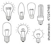 light bulbs icon set. concept... | Shutterstock .eps vector #472247485