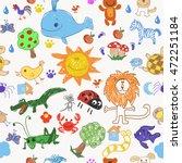 childrens drawing doodle...   Shutterstock . vector #472251184