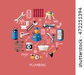 colored plumbing round...   Shutterstock .eps vector #472251394