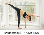 young woman doing yoga... | Shutterstock . vector #472257529