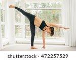 young woman doing yoga...   Shutterstock . vector #472257529