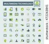 multimedia technology icons | Shutterstock .eps vector #472263841