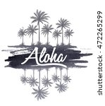 watercolor aloha typography for ... | Shutterstock .eps vector #472265299