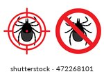 no mites sign. crossed tick and ... | Shutterstock .eps vector #472268101