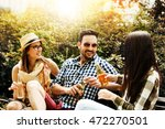 group of young people having... | Shutterstock . vector #472270501