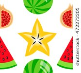 colorful fruits seamless... | Shutterstock .eps vector #472272205