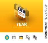 year color icon  vector symbol...