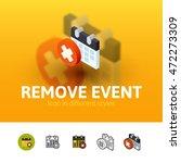 remove event color icon  vector ...
