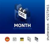 month color icon  vector symbol ...