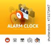 alarm clock color icon  vector...