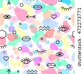 seamless pattern with eyes and... | Shutterstock .eps vector #472273771