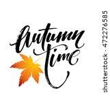 autumn time seasonal banner... | Shutterstock .eps vector #472276585