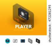 player color icon  vector...