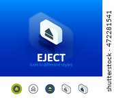 eject color icon  vector symbol ...