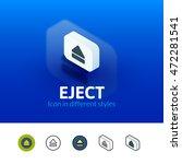 eject color icon  vector symbol ...