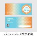 orange and blue gift voucher...