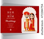 indian wedding invitation card. | Shutterstock .eps vector #472284754