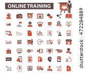 online training icons | Shutterstock .eps vector #472284889