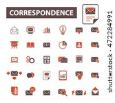 correspondence icons | Shutterstock .eps vector #472284991