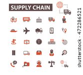 supply chain icons | Shutterstock .eps vector #472286521