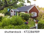 Summer Cottage With Flower In...