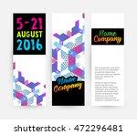 banners set  trendy geometric... | Shutterstock .eps vector #472296481