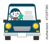 texting while driving | Shutterstock .eps vector #472297381