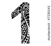number ornament   1   | Shutterstock .eps vector #47230141
