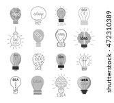 drawing idea light bulb concept ... | Shutterstock .eps vector #472310389