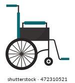 wheelchair flat design medical...   Shutterstock .eps vector #472310521