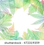 leaf abstract skeleton... | Shutterstock .eps vector #472319359