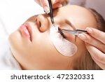 eyelash extension procedure....   Shutterstock . vector #472320331