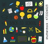 set of back to school doodle... | Shutterstock .eps vector #472326025